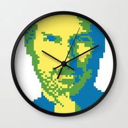 #1 Steve Jobs - pixelart portrait Wall Clock