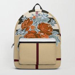 Flower in brown pattern Backpack