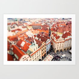 Red Roof Prague Art Print