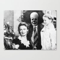 pennywise Canvas Prints featuring PENNYWISE IN A WONDERFUL LIFE by Luigi Tarini
