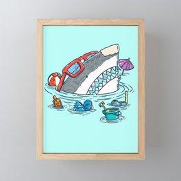 Beach Party Shark Framed Mini Art Print