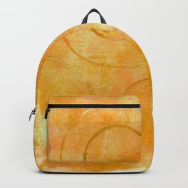 Will it Go Round in Circles, Abstract Art Painting Backpack