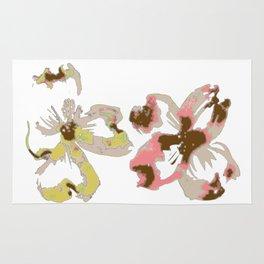 Silk Screen Floral Rug