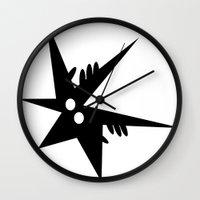 comic Wall Clocks featuring Comic by shirteam