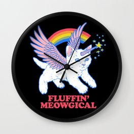 Fluffin' Meowgical Wall Clock