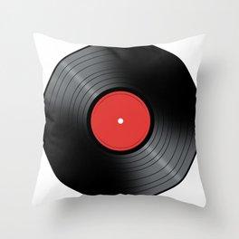 Music Record Throw Pillow