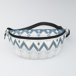 Icelandica Pattern Blue Fanny Pack