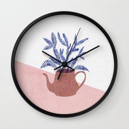 Teapot and Fern Wall Clock