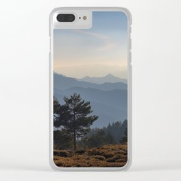 Blue dreams III. Misty mountains Clear iPhone Case