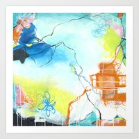 The Dreaming - Square Abstract Expressionism Art Print
