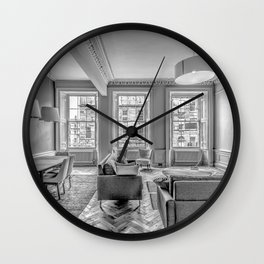 New Town Flat Wall Clock