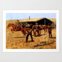 "Frederic Remington Western Art ""Pony Express"" Art Print"