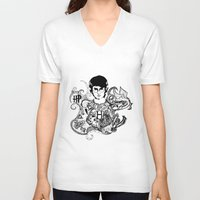 potter V-neck T-shirts featuring Harry Potter by Ink Tales