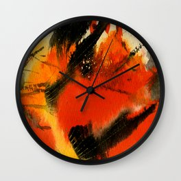 Art Abstraction 3 by Kathy Morton Stanion Wall Clock