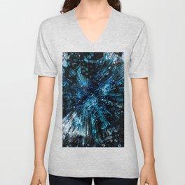 Universum blue deep Unisex V-Neck
