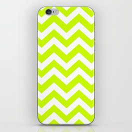 Volt - green color - Zigzag Chevron Pattern iPhone Skin