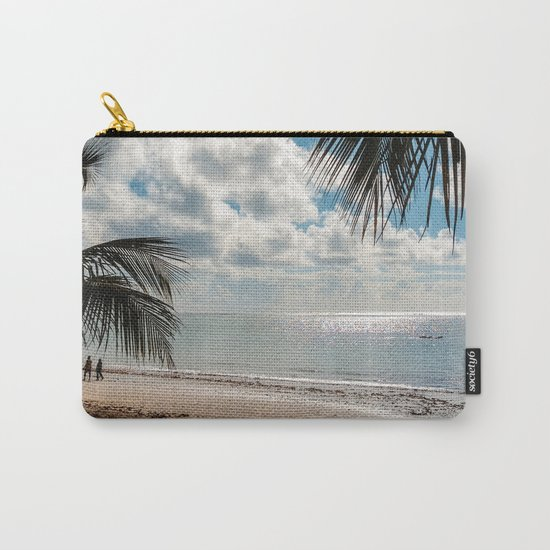 Couple at the beach Carry-All Pouch