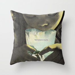 will it always be so hard to stop myself? Throw Pillow