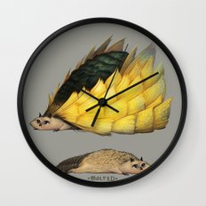 Golden Platypowl Wall Clock