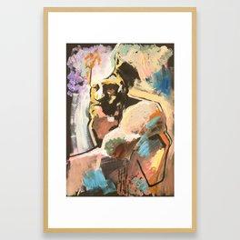 Bearded man, 2018 Framed Art Print