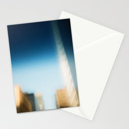smudged skyline Stationery Cards