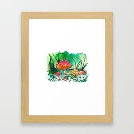 Toadstool Mushroom Fairy Land Framed Art Print
