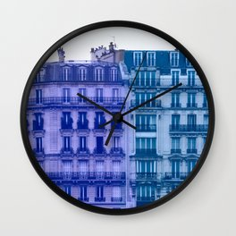 Colorful Paris Buildings Wall Clock