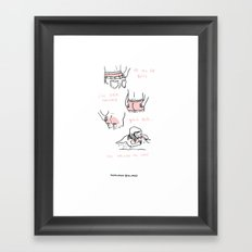 Your Butt Framed Art Print