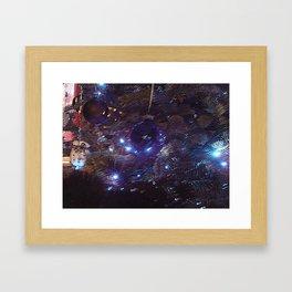 Distorted Christmas Framed Art Print