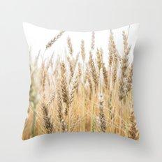 Harvest Wheat Field Throw Pillow