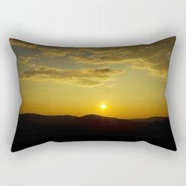 Sunset over Mt. Battie Rectangular Pillow