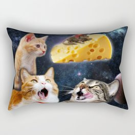 Cats and the mouse on the cheese Rectangular Pillow