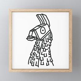 Llama Framed Mini Art Print