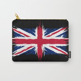 Union Jack - British Flag - Brush Style Carry-All Pouch