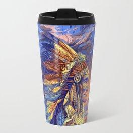native american colorful portrait Travel Mug