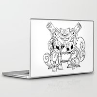 squirtle Laptop & iPad Skins featuring Squirtle Evolutions de los Muertos | Pokémon & Day of The Dead Mashup | Dia de los Muertos by Aaron Bowersock