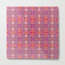 Hot Pink and Orange Pattern 800 Metal Print
