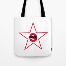 Rock and star Tote Bag