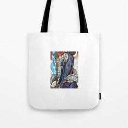 Stained Glass Witch Tote Bag