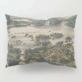 Vintage Lakes of Killarney Pictorial Map (1868) Pillow Sham