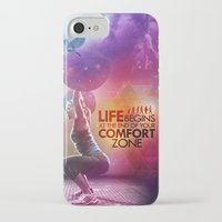 crossfit iPhone & iPod Cases featuring CrossFit - Life Begins At the Edge of Your Comfort Zone. by Carlz James Söda