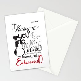 Tripping - Backhanded Insults Stationery Cards