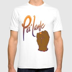Pa'lante Mens Fitted Tee MEDIUM White
