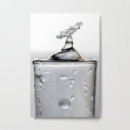 Cold shot glass drop Metal Print