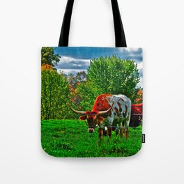 Longhorn Grazing Tote Bag