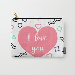 ILY Heart Carry-All Pouch