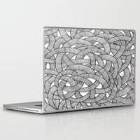knit Laptop & iPad Skins featuring Macro Knit  by Plenty Culture