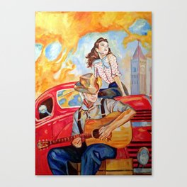Vintage, music, retro. Canvas Print