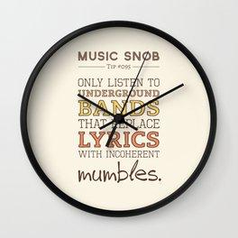 Mumbling Bands — Music Snob Tip #095 Wall Clock