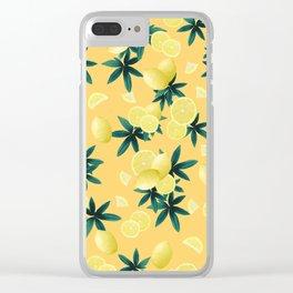 Lemon Twist Vibes #3 #tropical #fruit #decor #art #society6 Clear iPhone Case